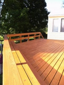 Composite Deck Staining