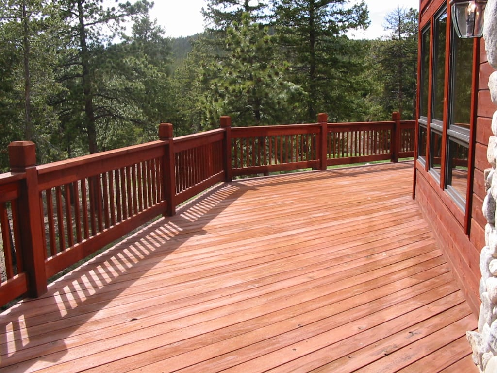 Warranty guarantee on painting services home partners for Wood deck designs pictures