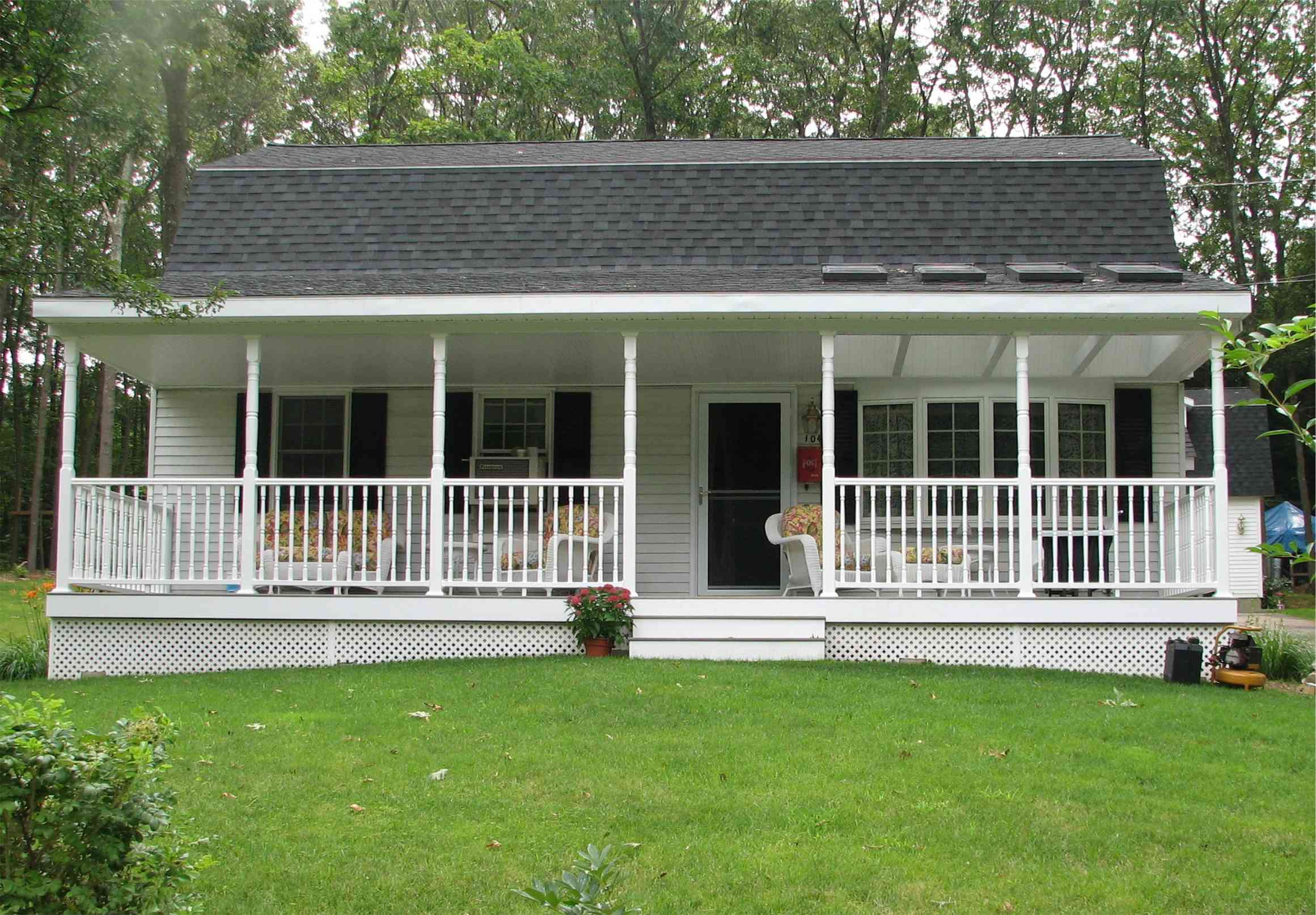 Deck or porch home partners for Simple house design made of wood